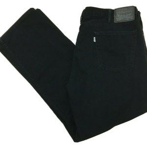 Levi's 514 Jeans Black Cotton Twill Pants Size 38